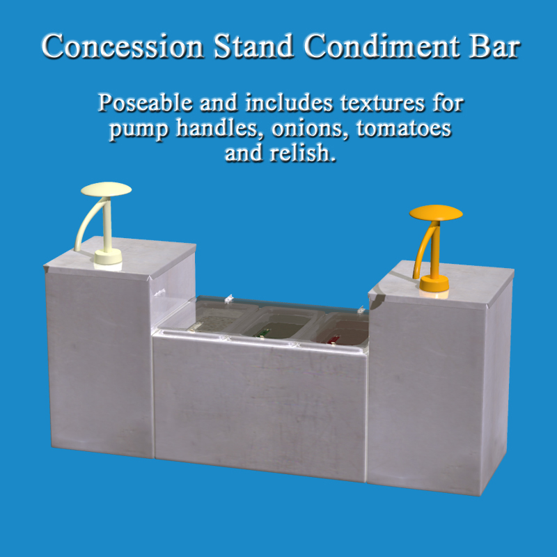 Concession Stand Condiment Bar