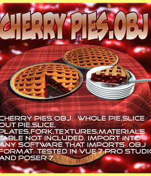 Cherry pies.obj Legacy Discounted Content uncle808us