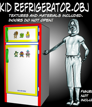 Kid Refrigerator.obj Legacy Discounted Content uncle808us
