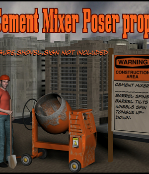 Cement Mixer Poser Prop Legacy Discounted Content uncle808us