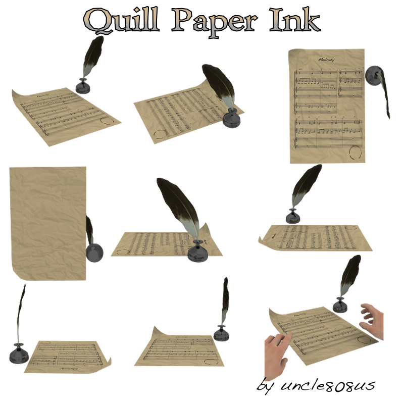 Quill Paper Ink