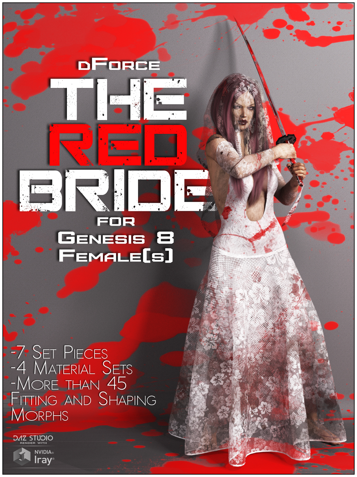 dForce The Red Bride for Genesis 8 Females