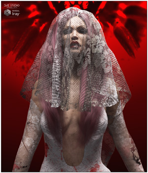dForce The Red Bride for Genesis 8 Females 3D Figure Assets SWTrium