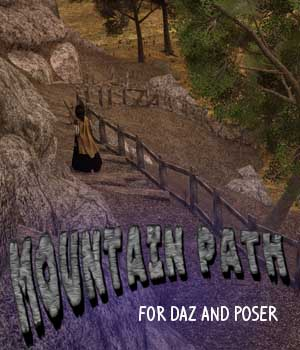 Mountain Path for Daz and Poser 3D Models genejoke