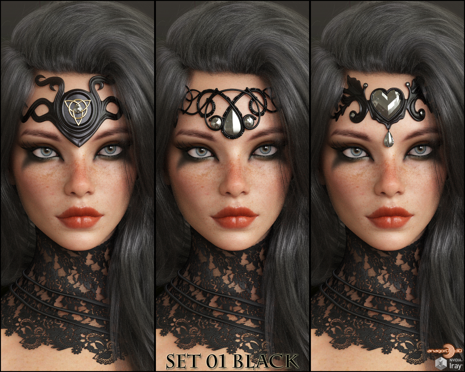 VERSUS - Gothic Accents for Genesis 8 Females by Anagord