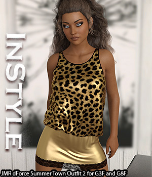 InStyle - JMR dForce Summer Town Outfit 2 for G3F and G8F 3D Figure Assets -Valkyrie-