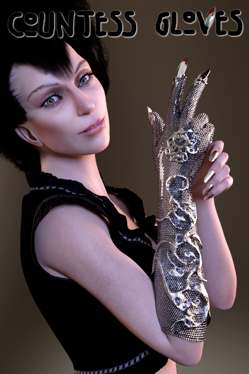 Countess Gloves for Genesis 8 Female