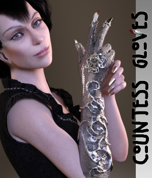 Countess Gloves for Genesis 8 Female 3D Figure Assets Karth