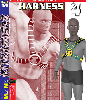 Harness 004 MMKBG3M 3D Figure Assets MightyMite