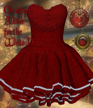 Christmas Addon for the White Dress 3D Figure Assets Tipol