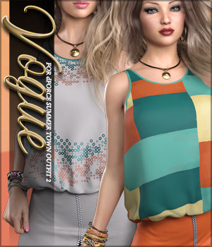 Vogue for dForce Summer Town Outfit 2 3D Figure Assets Sveva