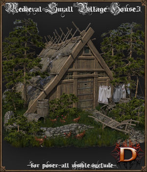 Medieval Small Village House 3