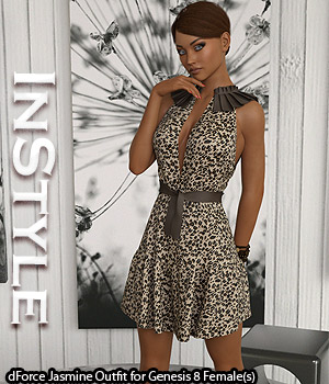 InStyle - dForce Jasmine Outfit for Genesis 8 Females 3D Figure Assets -Valkyrie-