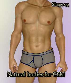 Natural Bodies for G8 Male 3D Figure Assets bu_es