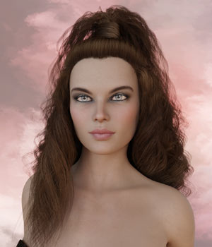 Virginia Hair G3 G8 Daz 3D Figure Assets RPublishing