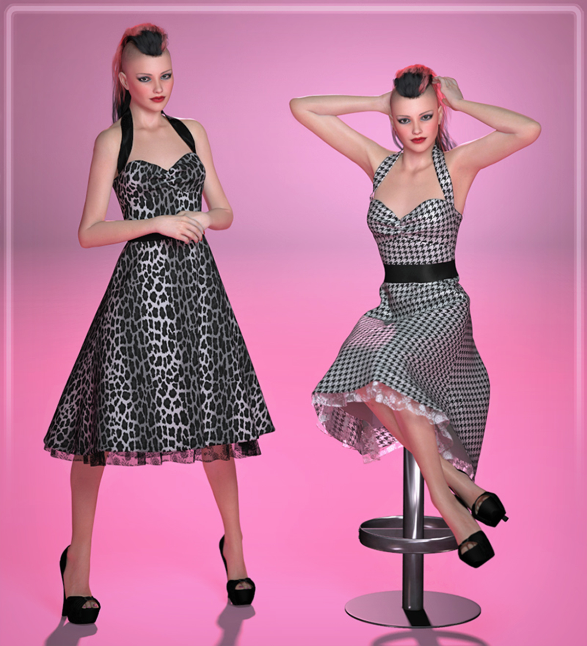 FRQ Dynamics: Rockabilly Dress by Frequency