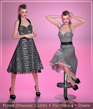 FRQ Dynamics: Rockabilly Dress 3D Figure Assets Frequency