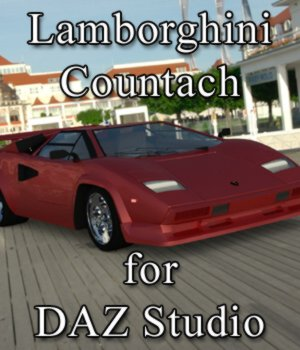Lamborghini Countach - for DAZ Studio  3D Models Digimation_ModelBank
