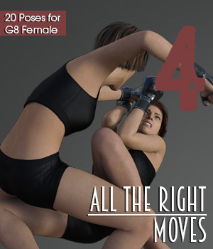ALL THE RIGHT MOVES vol.4 for Genesis 8 Female 3D Figure Assets PainMD