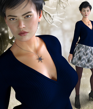 Winter Chill for Genesis 8 Females 3D Figure Assets RPublishing
