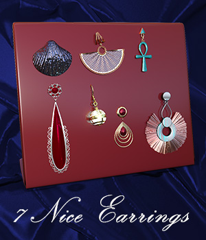 Nice Earrings DxT G3F and G8F 3D Figure Assets Martesarte