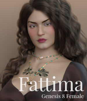 Fattima for Genesis 8 Female 3D Figure Assets MoyKot