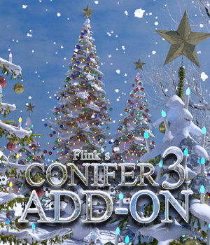 Flinks Conifer 3 - Christmas Tree Add-On 3D Models Flink