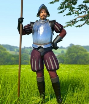 Conquistador Outfit and Armor for Genesis 3 Male 3D Figure Assets 3D Models Goriav