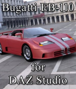 Bugatti EB 110 - for DAZ Studio  3D Models Digimation_ModelBank