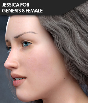 Jessica for Genesis 8 Female 3D Figure Assets SF-Design