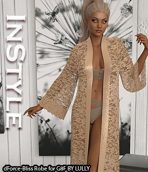 InStyle - dForce-Bliss Robe for G8F 3D Figure Assets -Valkyrie-