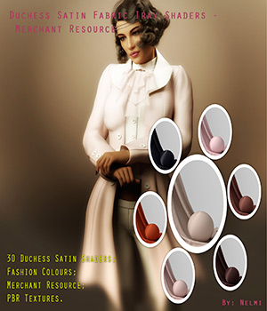 Duchess Satin Fabric Iray Shaders - MR 3D Figure Assets Merchant Resources nelmi