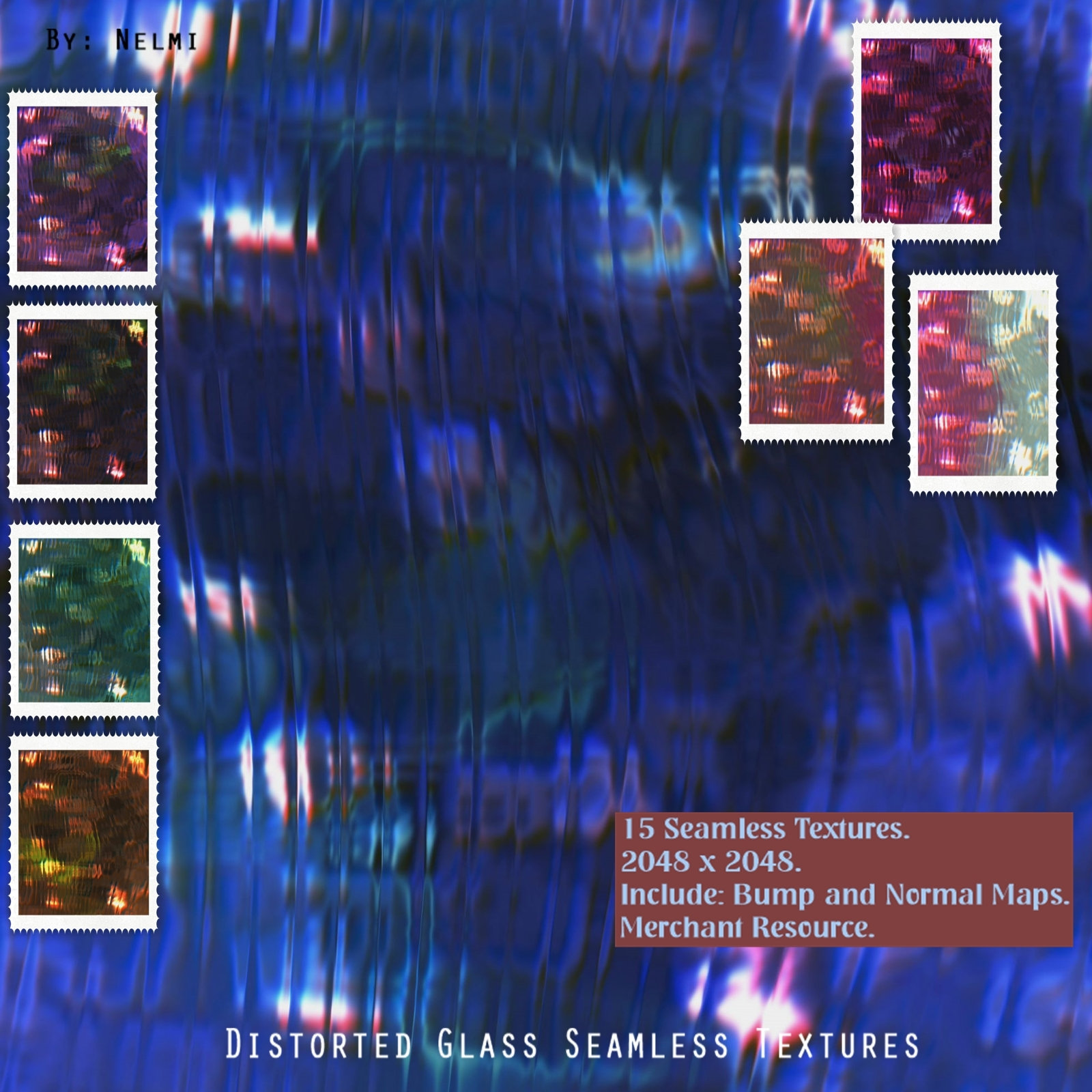 15 Distorted Glass Seamless Textures - MR