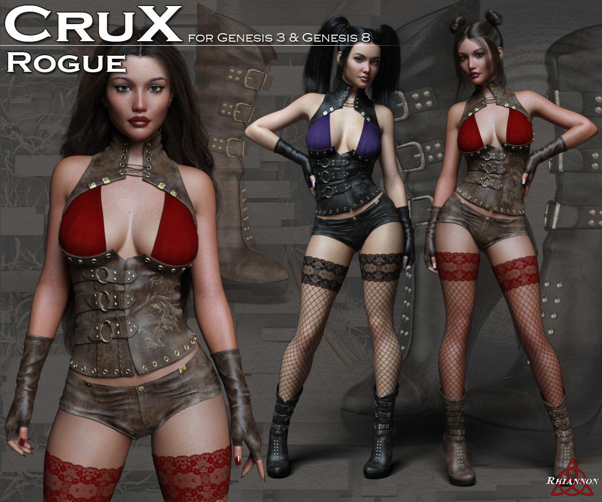 CruX Rogue for the Genesis 3 and Genesis 8 Females by Rhiannon