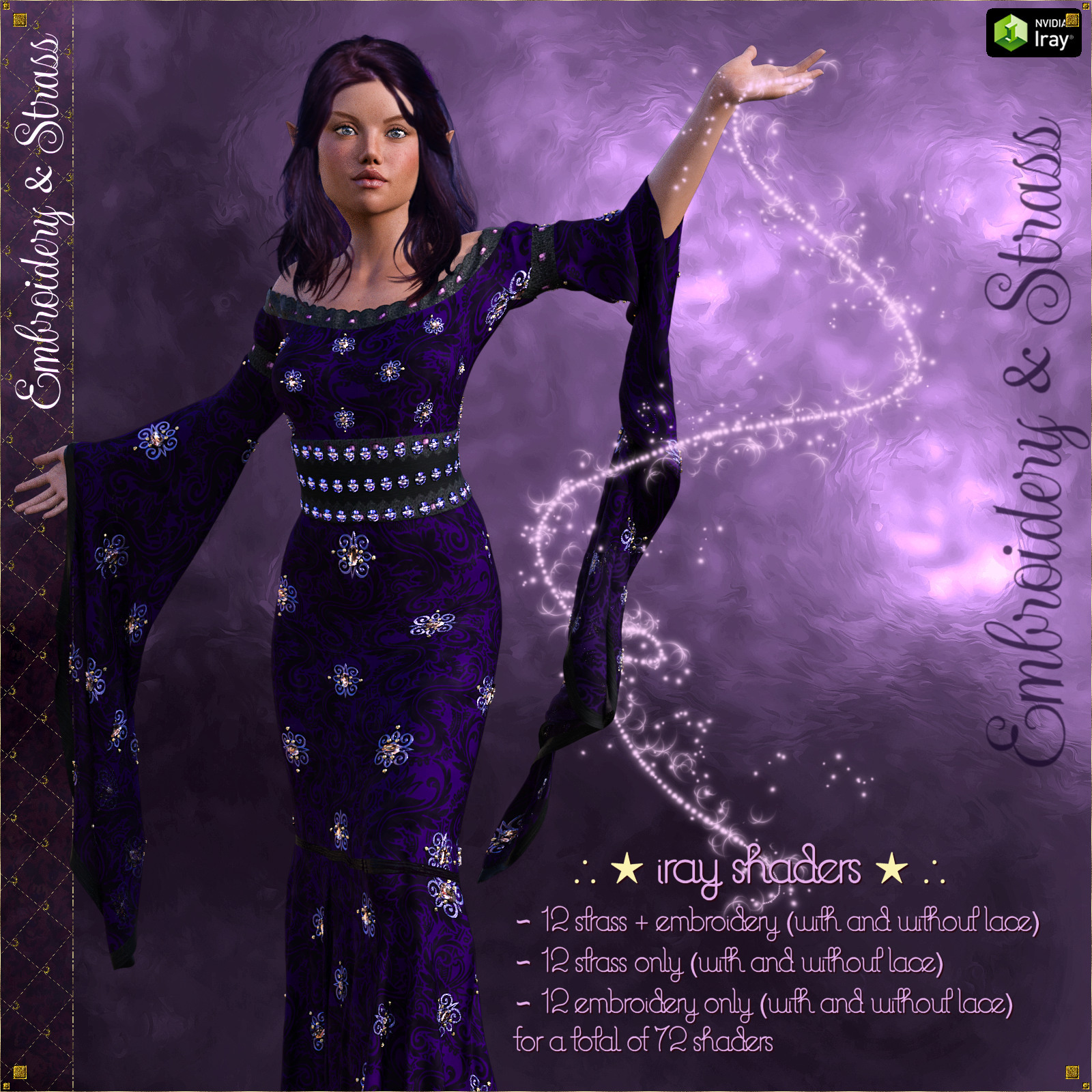 Embroidery & Strass - IRAY Shaders for DAZ