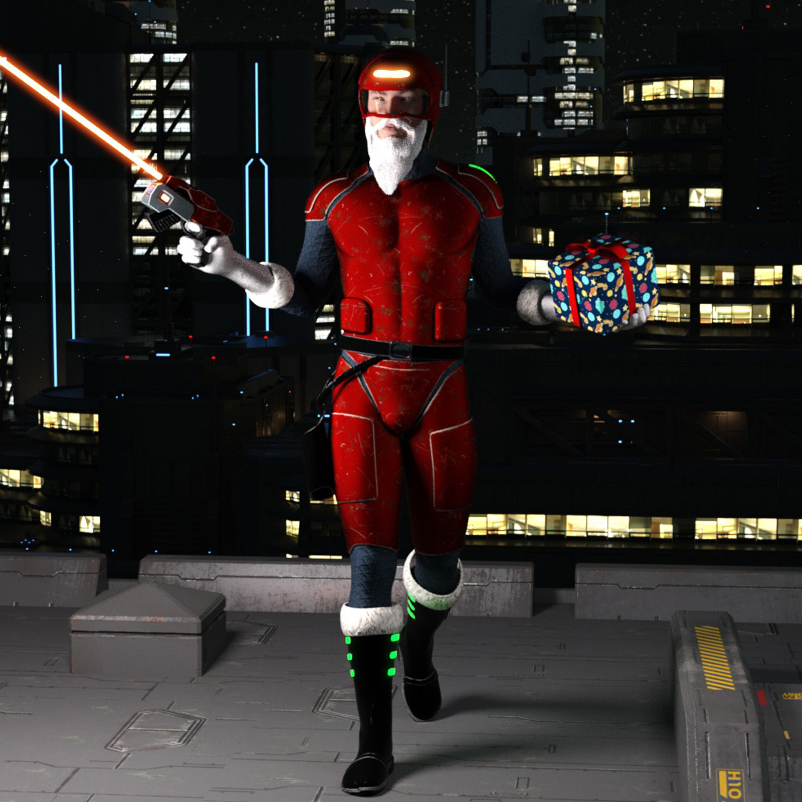 Scifi Santa Outfit for Genesis 8 Male