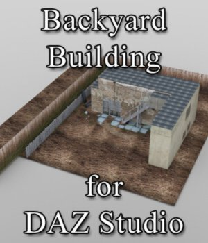 Backyard Building - for DAZ Studio  3D Models VanishingPoint