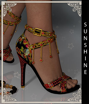 Sunshine for Kathy Shoes 3D Figure Assets sandra_bonello