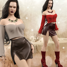 Hot N Cold Clothing Set for Genesis 8 Females for iRay and dForce  image 4