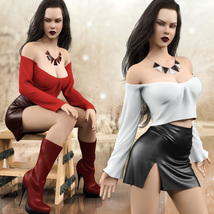 Hot N Cold Clothing Set for Genesis 8 Females for iRay and dForce  image 6