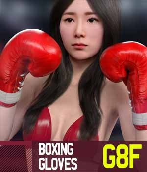 Boxing Gloves G8F for Genesis 8 Female 3D Models gravureboxing
