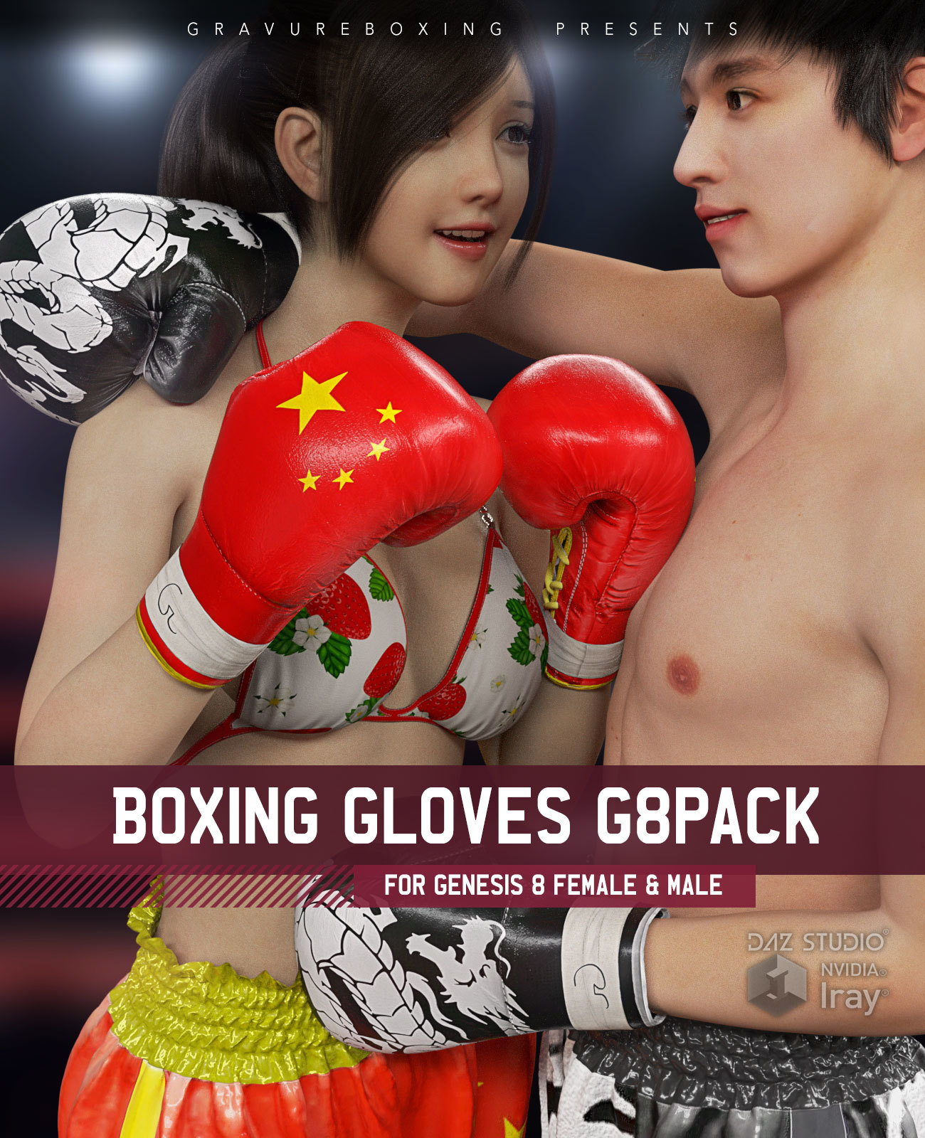 Boxing Gloves G8Pack for Genesis 8 Female and Male