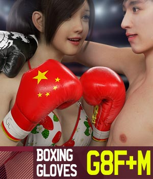 Boxing Gloves G8Pack for Genesis 8 Female and Male 3D Figure Assets gravureboxing