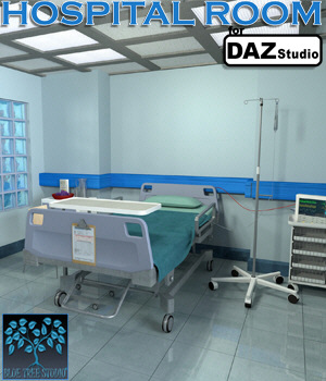 Hospital Room for Daz Studio 3D Models BlueTreeStudio