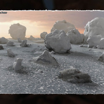 3D Scenery: Frozen Natural Riverbank image 1