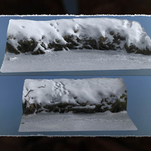 3D Scenery: Frozen Natural Riverbank image 6