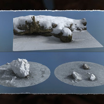 3D Scenery: Frozen Natural Riverbank image 7