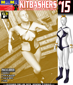 Kitbashers 015 MMG3F 3D Figure Assets MightyMite