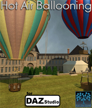 Hot Air Ballooning for Daz Studio 3D Models BlueTreeStudio