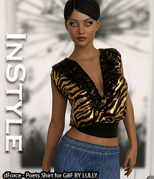 InStyle - dForce - Poets Shirt for G8F 3D Figure Assets -Valkyrie-